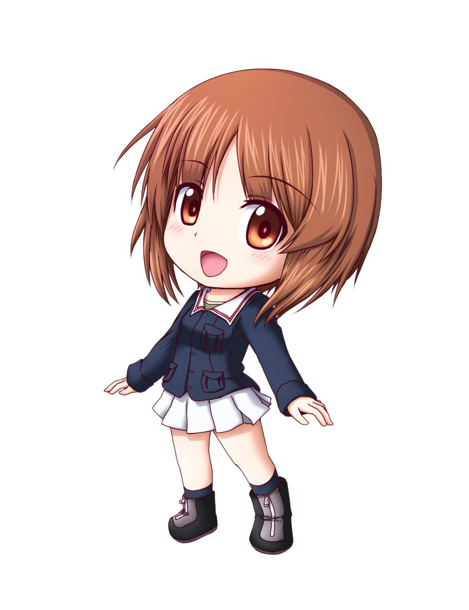 Anime clipart girl png freeuse download Pix For > Anime Chibi Girl With Brown Hair | Chibi girl | Chibi girl ... png freeuse download