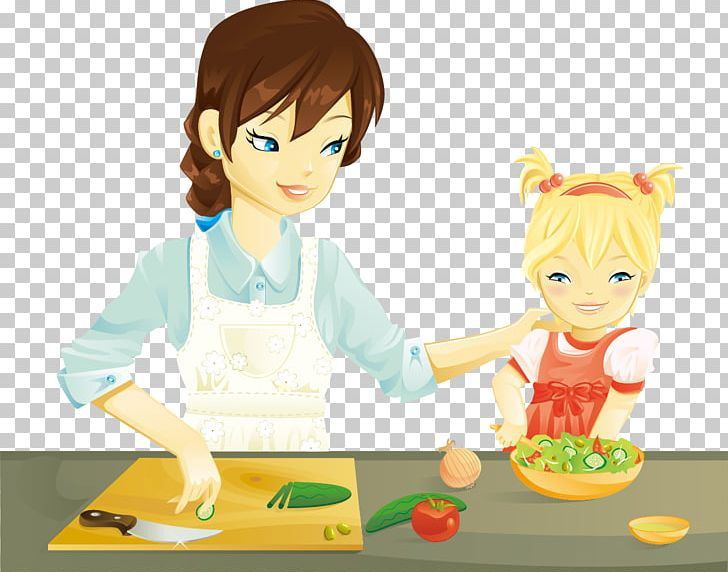 Anime cooking clipart graphic black and white stock Cooking Mother Kitchen PNG, Clipart, Anime, Art, Baking, Cartoon ... graphic black and white stock