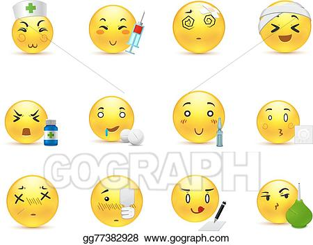 Anime emoticon clipart jpg download Vector Illustration - Anime emoticons doctor. EPS Clipart gg77382928 ... jpg download
