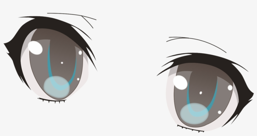 Anime eyes clipart blush vector black and white Evil Anime Eyes Png - Anime Eyes Transparent Background - Free ... vector black and white