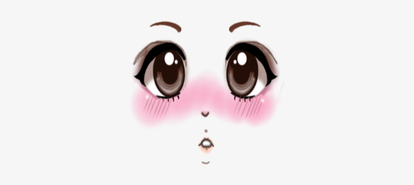 Anime eyes clipart blush jpg freeuse stock Anime Blush Collection Roblox Black And White Png Avatar - Anime ... jpg freeuse stock