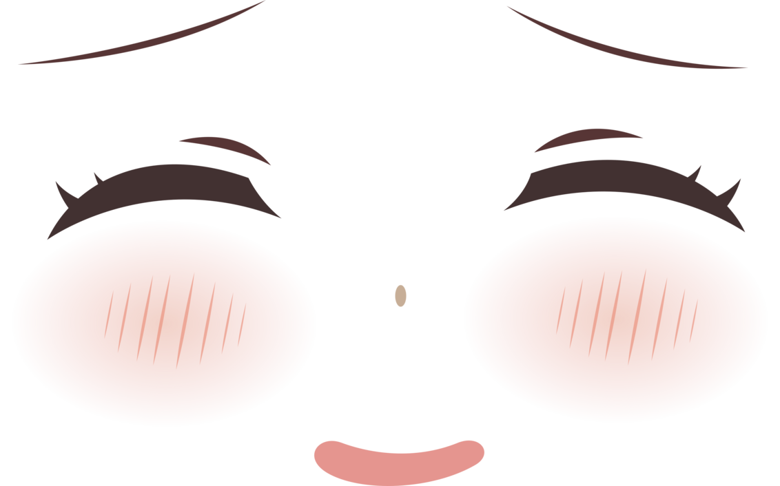 Anime eyes clipart blush graphic transparent stock Closed anime eyes clipart images gallery for free download | MyReal ... graphic transparent stock