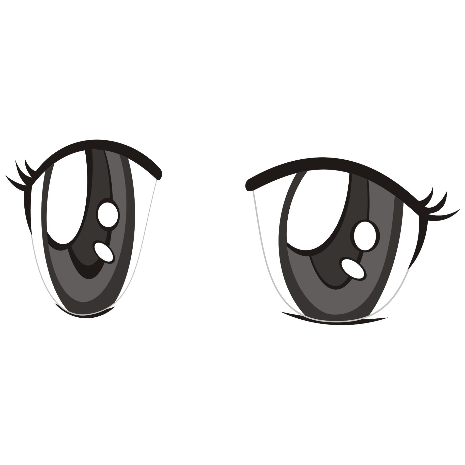 Anime eyes with symbols clipart clipart free stock Vector for free use: Anime eyes - Clip Art Library clipart free stock