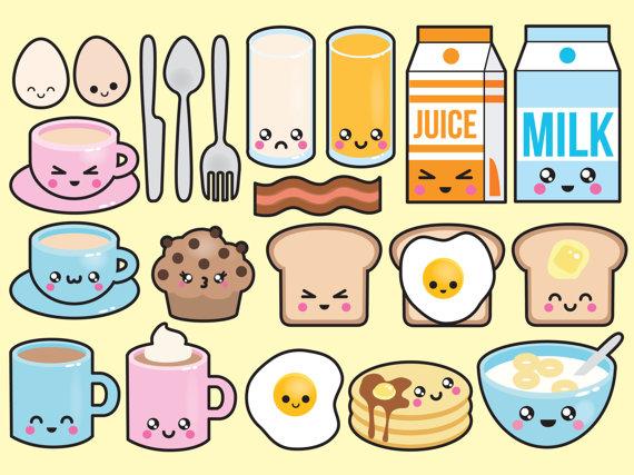 Teen breakfast clipart