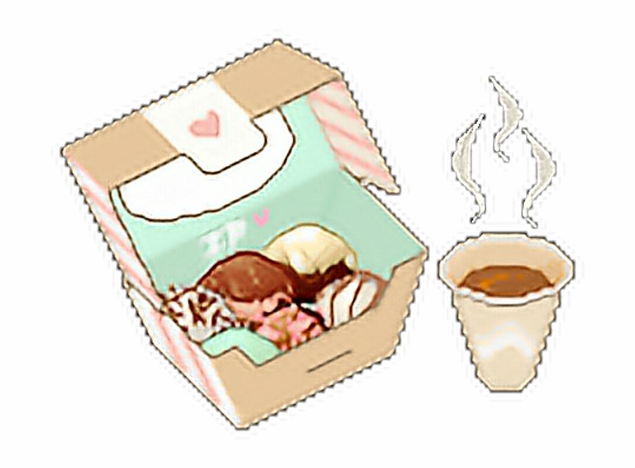 Anime food clipart jpg library download Pixelated Pixel Kawaii Cute Anime Manga Snacks Food - Clip Art Library jpg library download