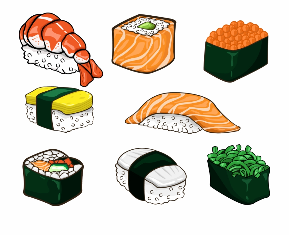 Anime food clipart png free stock Salmon Clipart Sushi Japanese - Food In Anime Sushi Free PNG Images ... png free stock
