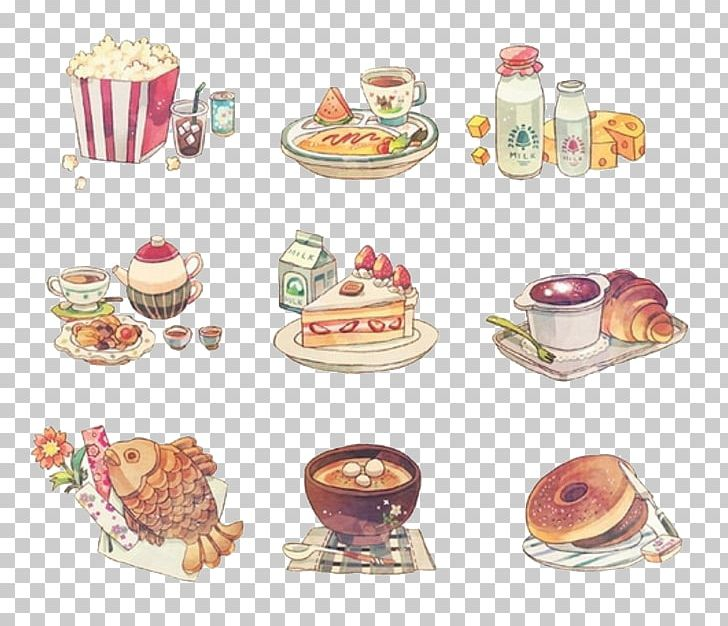 Anime food clipart clip art free download Breakfast Food Lunch Anime Dish PNG, Clipart, Baking, Bread ... clip art free download