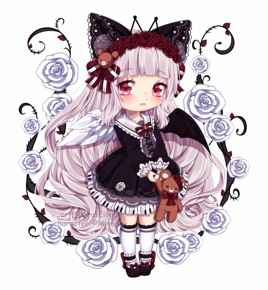Anime girl neko clipart vector black and white stock Awesome Anime Girl Neko Clipart Collection This Month - Anime Neko ... vector black and white stock