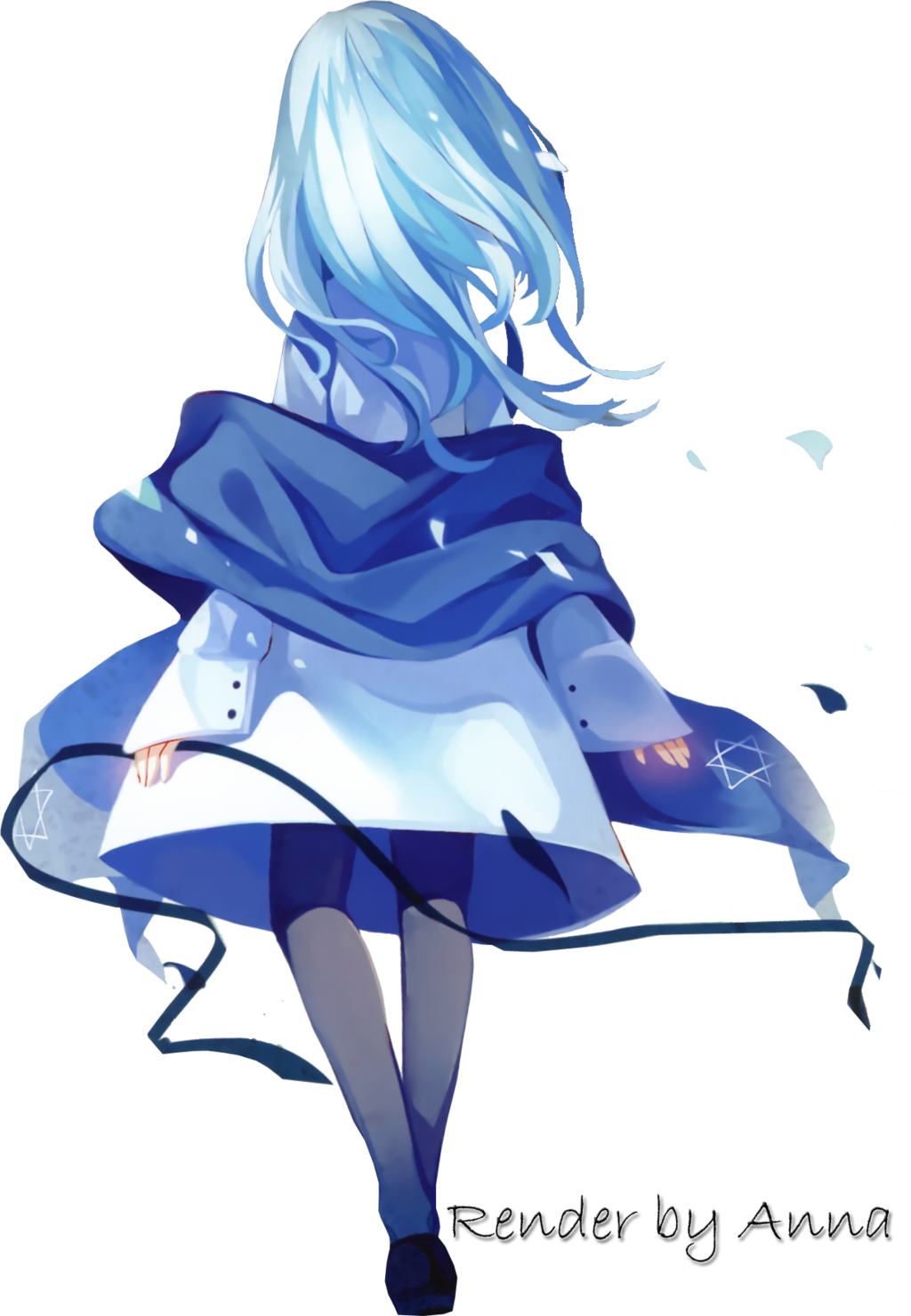 Anime girl tumblr clipart graphic transparent library HD Anime Girl Tumblr Transparent Clipart Free Download - Blue Anime ... graphic transparent library