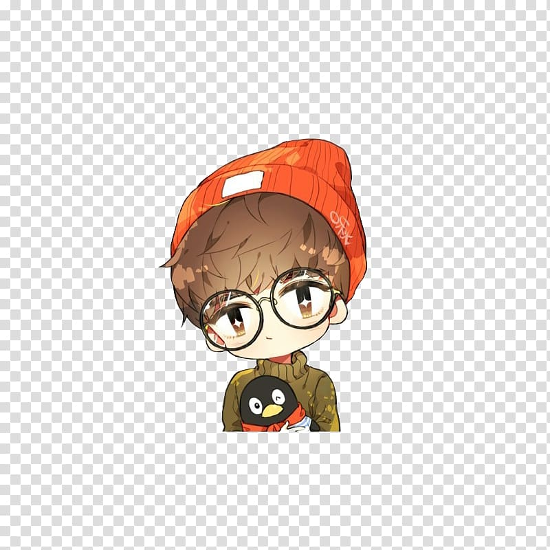 Anime glasses clipart vector free Cartoon Anime That Song, Fashion cartoon hand painted hat anime boy ... vector free