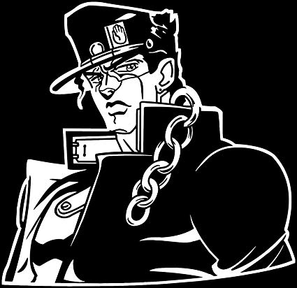 Anime jojo s bizarre jotaro clipart image black and white stock KyokoVinyl JoJo\'s Bizarre Adventure - Jotaro Kujo Anime Decal Sticker for  Car/Truck/Laptop (5.5\