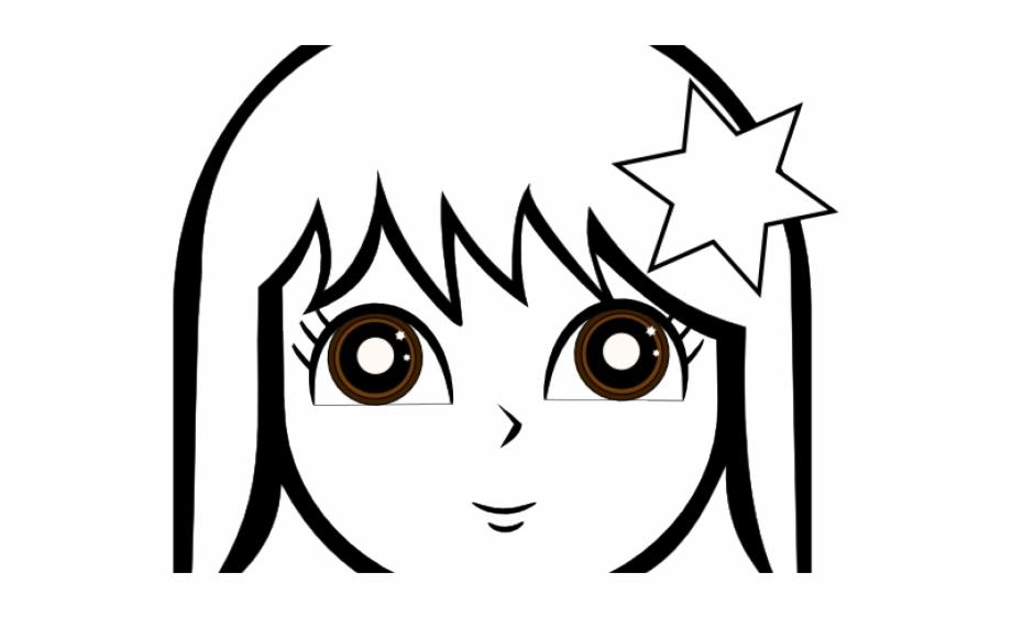 Anime lineart clipart svg free Anime Girl Clipart Lineart - Girl Face Coloring Page {#4618938 ... svg free