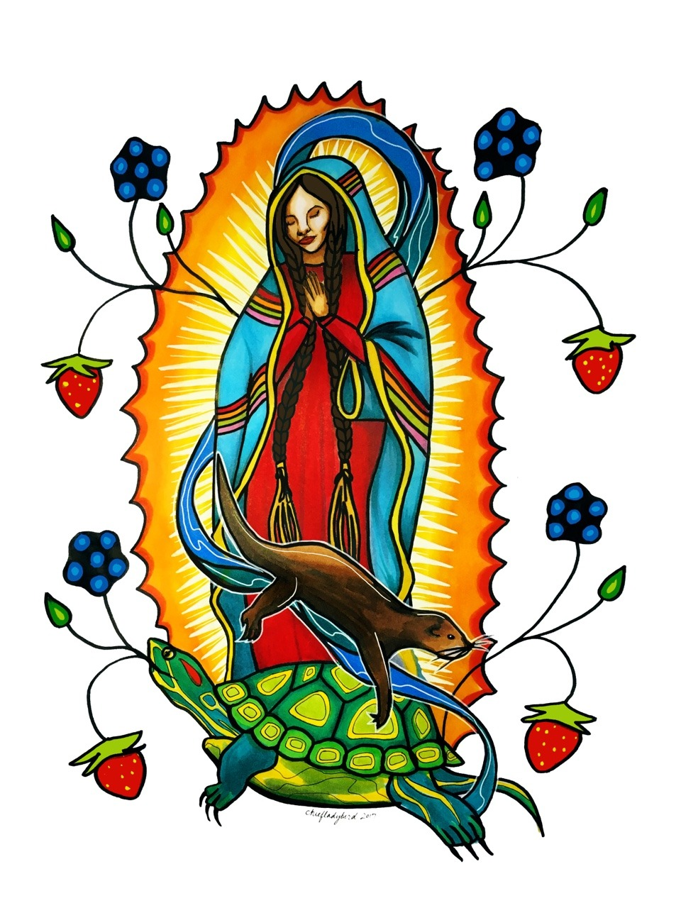 Anishinaabe creation story clipart vector transparent library Chief Lady Bird — Our Lady of Guadalupe Anishinaabe Creation story... vector transparent library