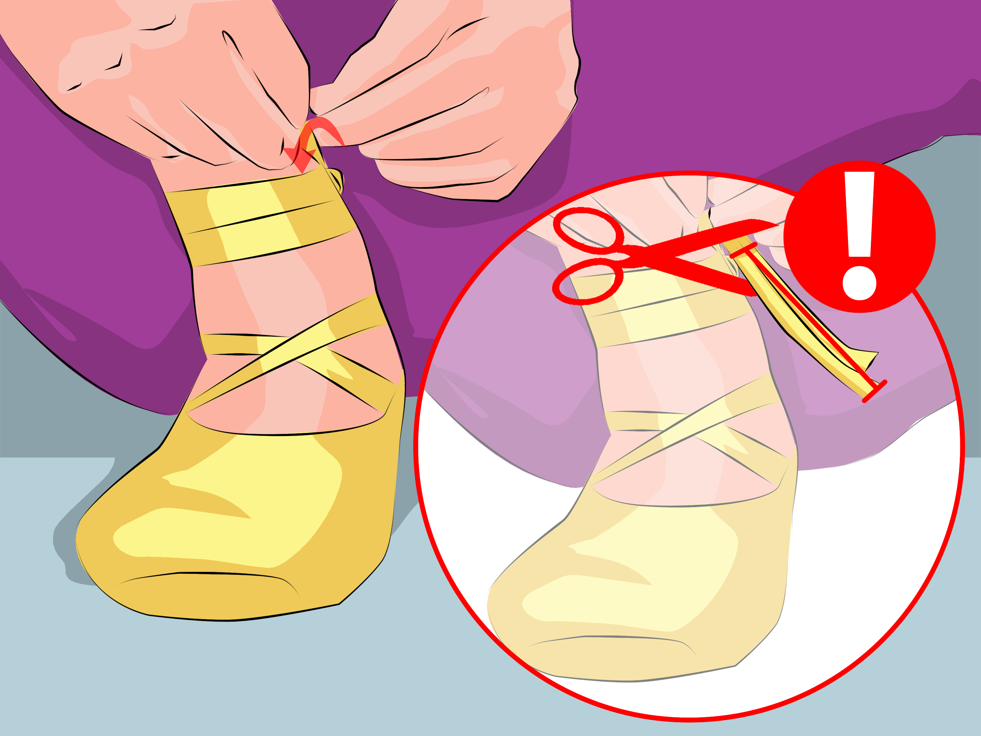 Ankles crossed clipart svg transparent library How to Tie Pointe Shoes: 6 Steps (with Pictures) - wikiHow svg transparent library