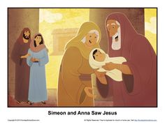 Anna and simeon clipart png free stock 7 Best Simeon and Anna Saw Jesus Bible Activities images in 2016 ... png free stock