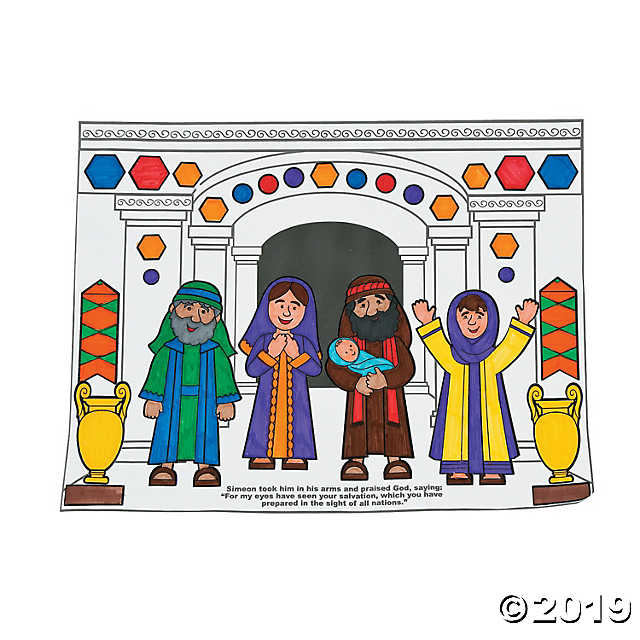 Anna and simeon clipart banner download Color Your Own Simeon & Anna Sticker Scenes banner download