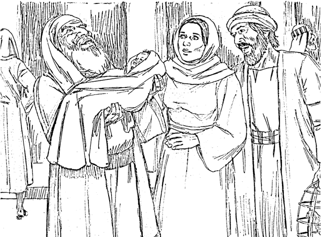 Anna and simeon clipart clip art black and white library Bible Fun For Kids: 4.2. Anna And Simeon See Jesus clip art black and white library