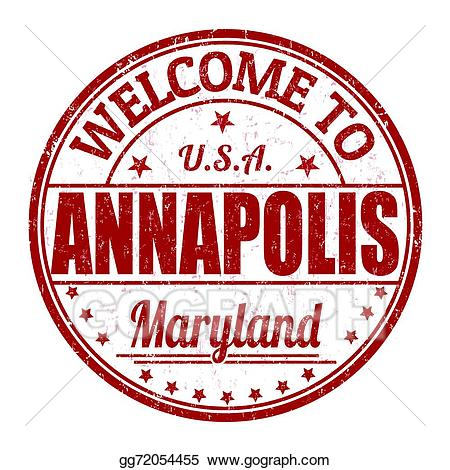 Annapolis clipart black and white download EPS Vector - Welcome to annapolis stamp. Stock Clipart Illustration ... black and white download
