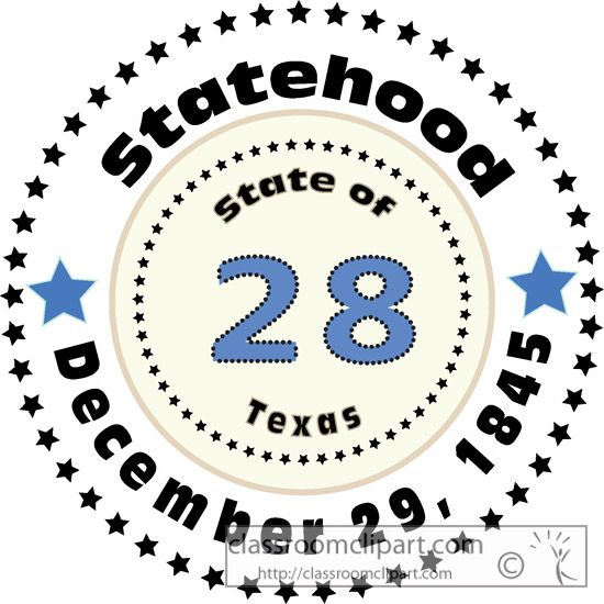 Annexed clipart image download 1845 Texas Territory annexed and Texas became the 28th state of the ... image download