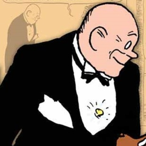 Annie and daddy warbucks clipart black and white download Daddy Warbucks screenshots, images and pictures - Comic Vine black and white download
