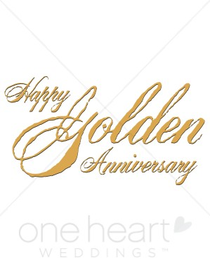 Anniversary calligraphy clipart image freeuse download Golden Anniversary Clipart   Wedding Anniversary Clipart image freeuse download