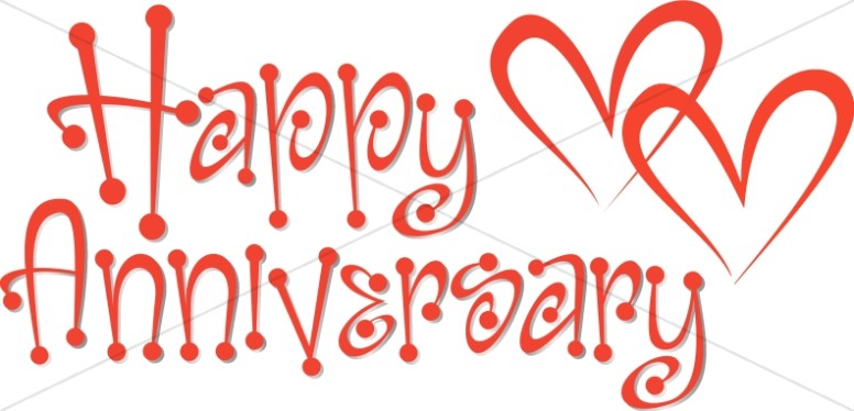 Anniversary hearts clipart clip library library Cute Red Anniversary Wordart with Hearts | Christian Anniversary Clipart clip library library