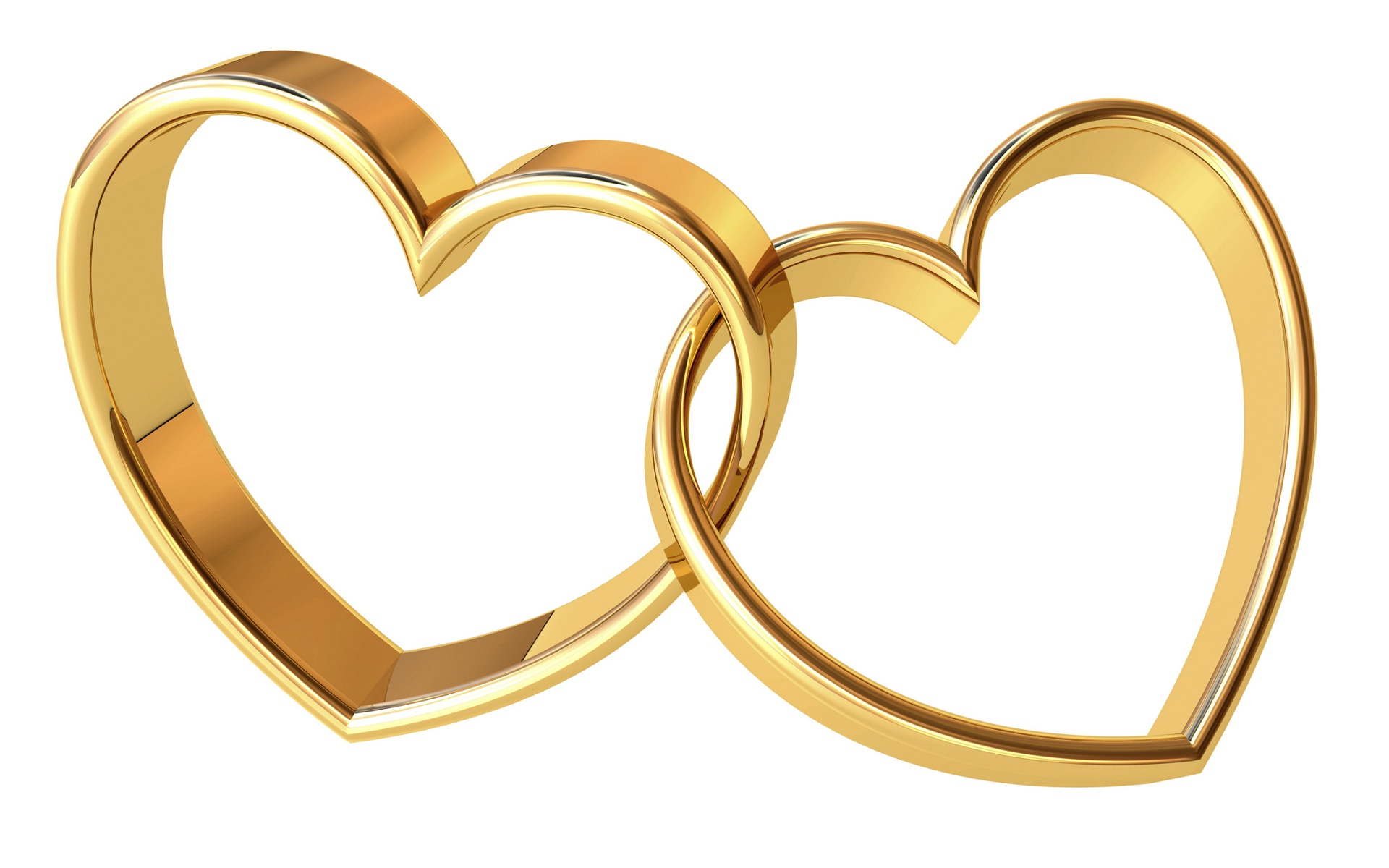 Anniversary hearts clipart png royalty free Gold rings heart shape happy anniversary | HD Wallpapers Rocks ... png royalty free