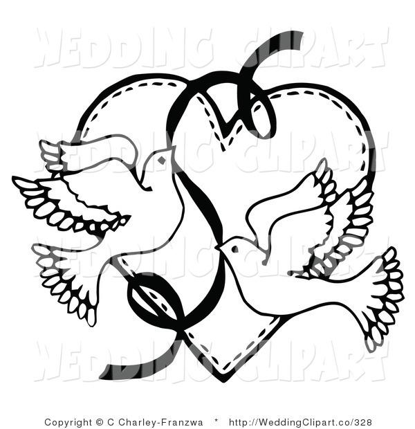 Black and white wedding dove wreath clipart jpg freeuse stock Free Wedding Clipart Black And White   Free download best Free ... jpg freeuse stock