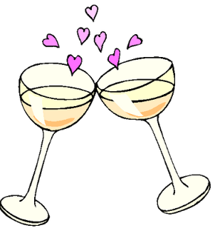 Anniversary wine clipart picture Pin by Ruth Mahon on Arts And Crafts | Wedding champagne flutes ... picture