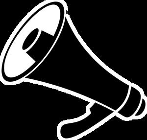 Announcement clipart public domain vector black and white stock 212 free clipart megaphone announcement   Public domain vectors vector black and white stock