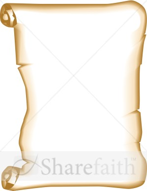 Announcement scroll clipart picture Blank Bulletin Scroll | Religious Borders picture
