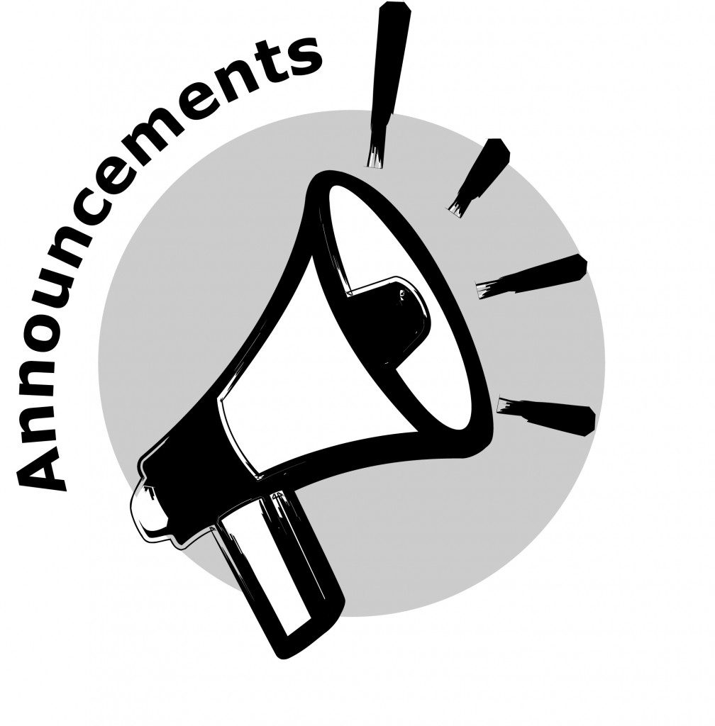 Announcements clipart black white vector library stock Daily Announcements – Harry S Truman High School vector library stock