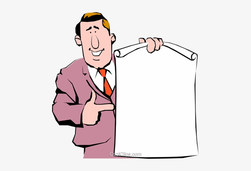 Announcements clipart png graphic stock Cartoon Man With Announcement Royalty Free Vector Clip ... graphic stock
