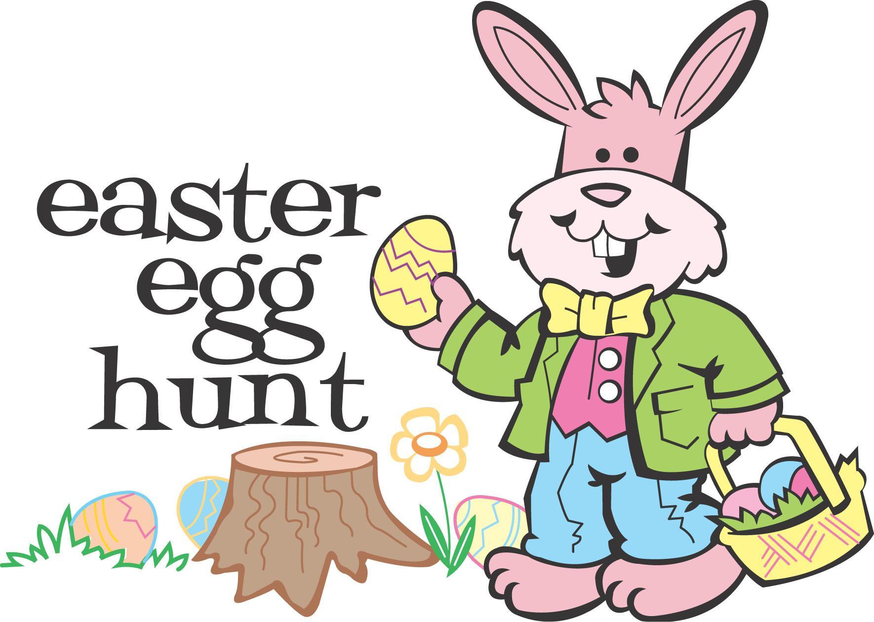 Annual easter egg hunt clipart jpg black and white library Easter Egg Hunt Sign Free Clip Art – Clipart Free Download jpg black and white library