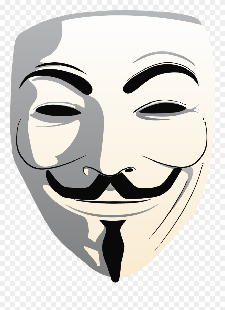 Guy fawkes mask clipart clipart stock Yükle Anonymous Mask Png Transparent Free Images Png - Anonymous ... clipart stock