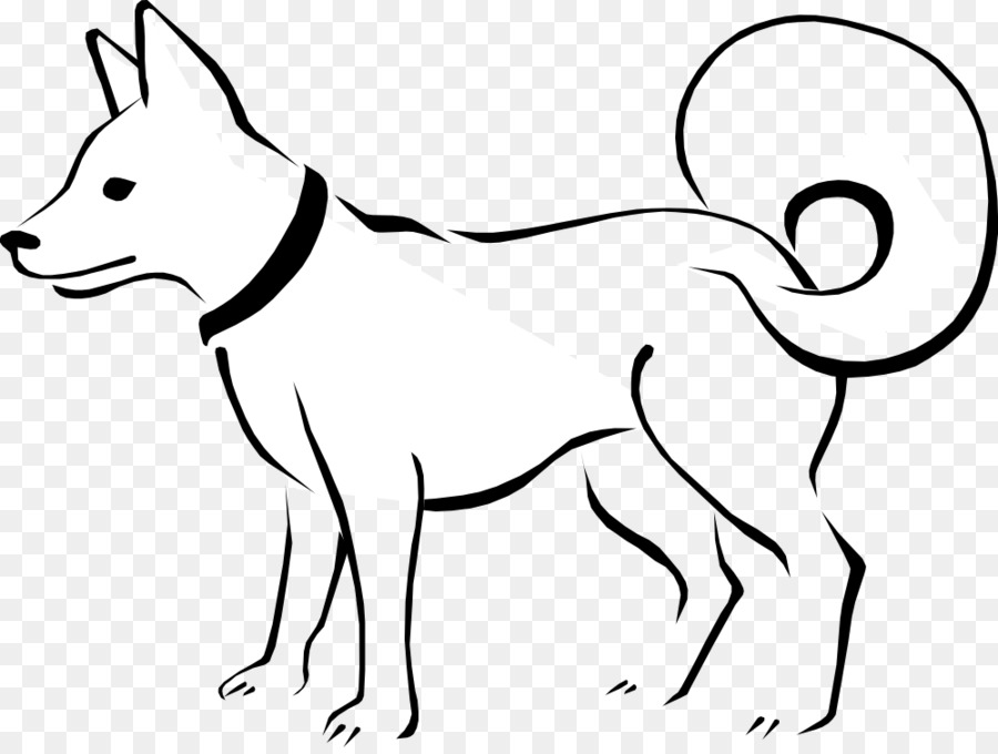 Free blackline clipart for dogs. Dog black and white