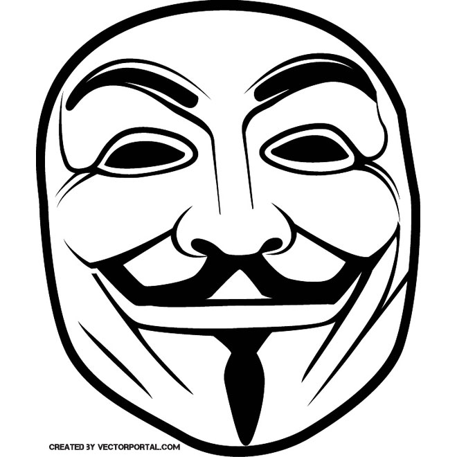 Anonymous mascara clipart jpg freeuse GUY FAWKES ANONYMOUS MASK VECTOR - Free vector image in AI and EPS ... jpg freeuse