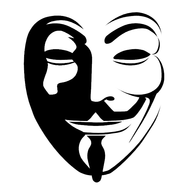 Anonymous mascara clipart clip art black and white Anonymous Guy Fawkes mask Clip art - anonymous mask png download ... clip art black and white