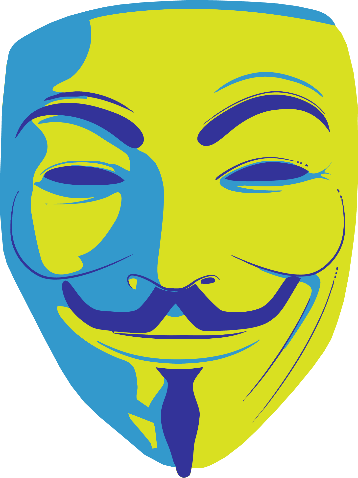 Anonymous mascara clipart image black and white library HD Anonymous Mask Clipart Png Image - Vendetta Mask Png , Free ... image black and white library