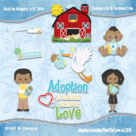 Another word for clipart image black and white stock Adoption Is Another Word For Love AA 2018 Commercial & Personal Use ... image black and white stock