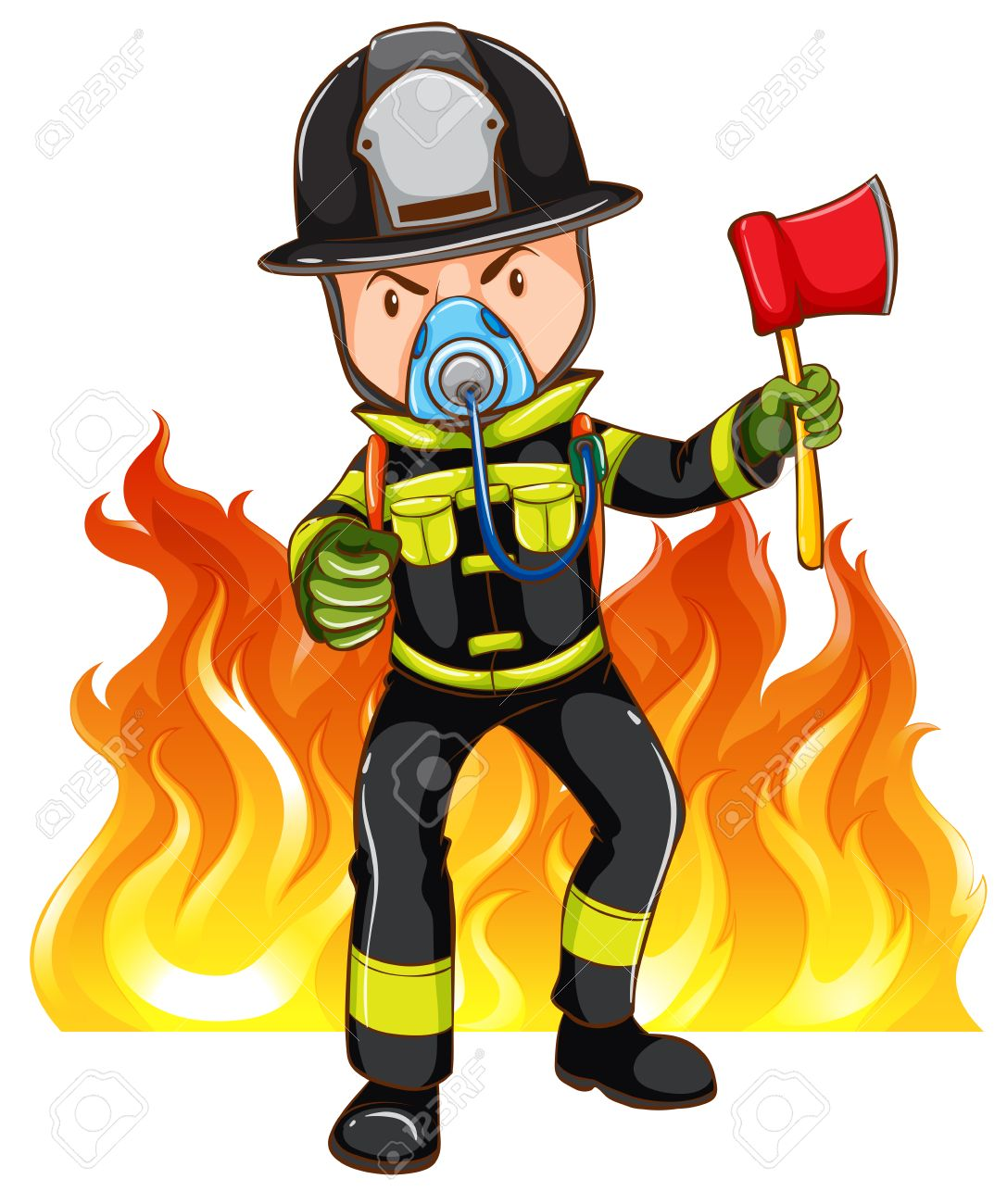 Anry fireman clipart picture freeuse Fireman clipart brave - 58 transparent clip arts, images and ... picture freeuse