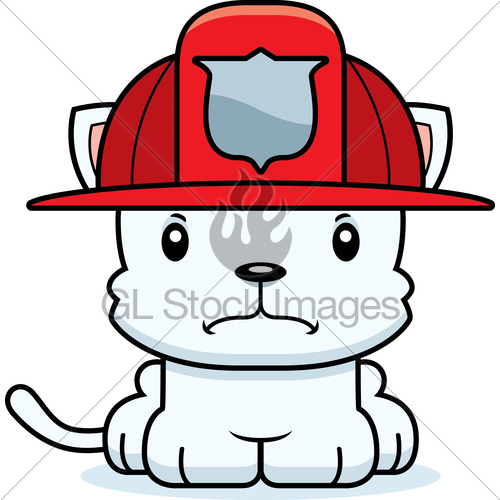 Anry fireman clipart image freeuse Cartoon Angry Firefighter Kitten · GL Stock Images image freeuse