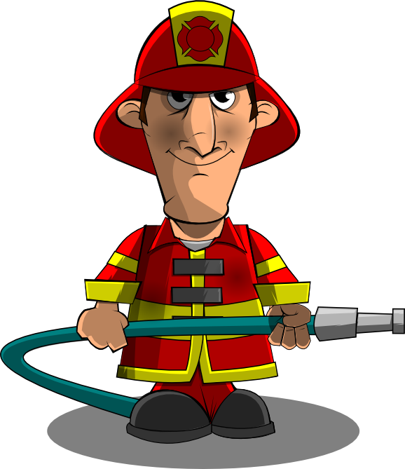 Anry fireman clipart png royalty free Cartoon Firefighter | Free download best Cartoon Firefighter on ... png royalty free
