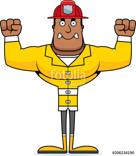 Anry fireman clipart png royalty free Cartoon Angry Firefighter\