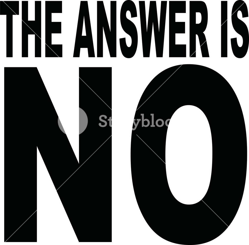 Answer behind no clipart graphic library download The answer is NO slogan Royalty-Free Stock Image - Storyblocks Images graphic library download