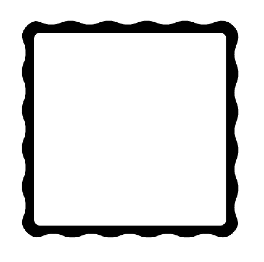 White round square clipart