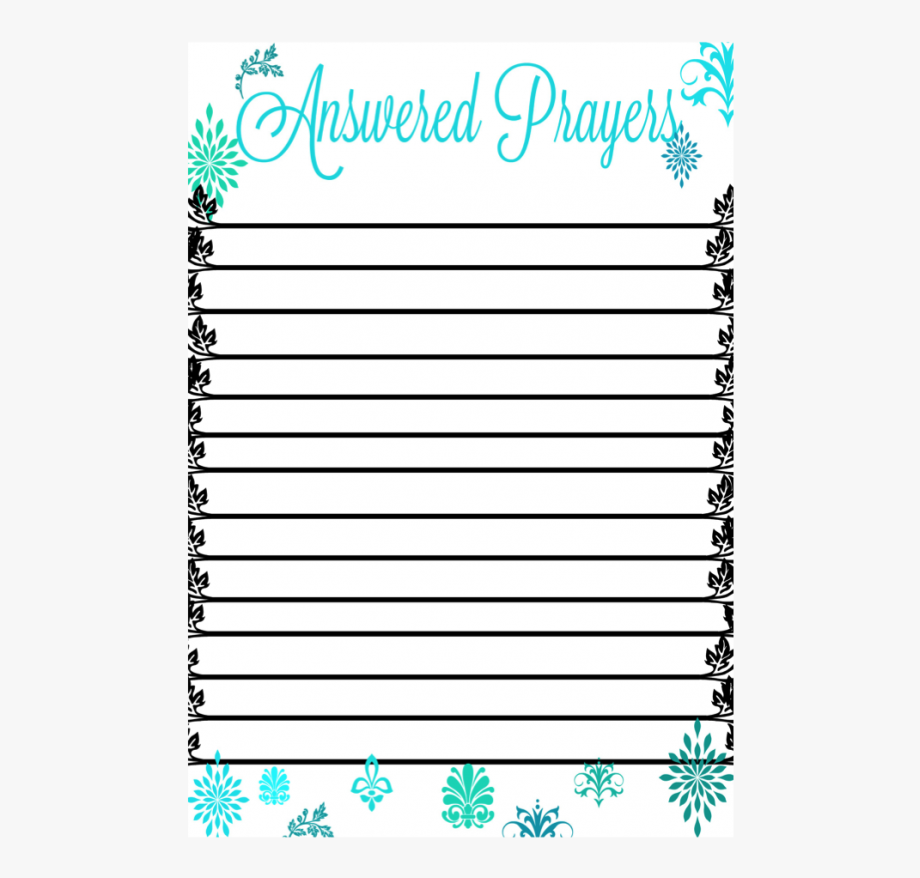 Answered prayers clipart clip art royalty free library Free Printable For Answered Prayer List - Answered Prayers Printable ... clip art royalty free library