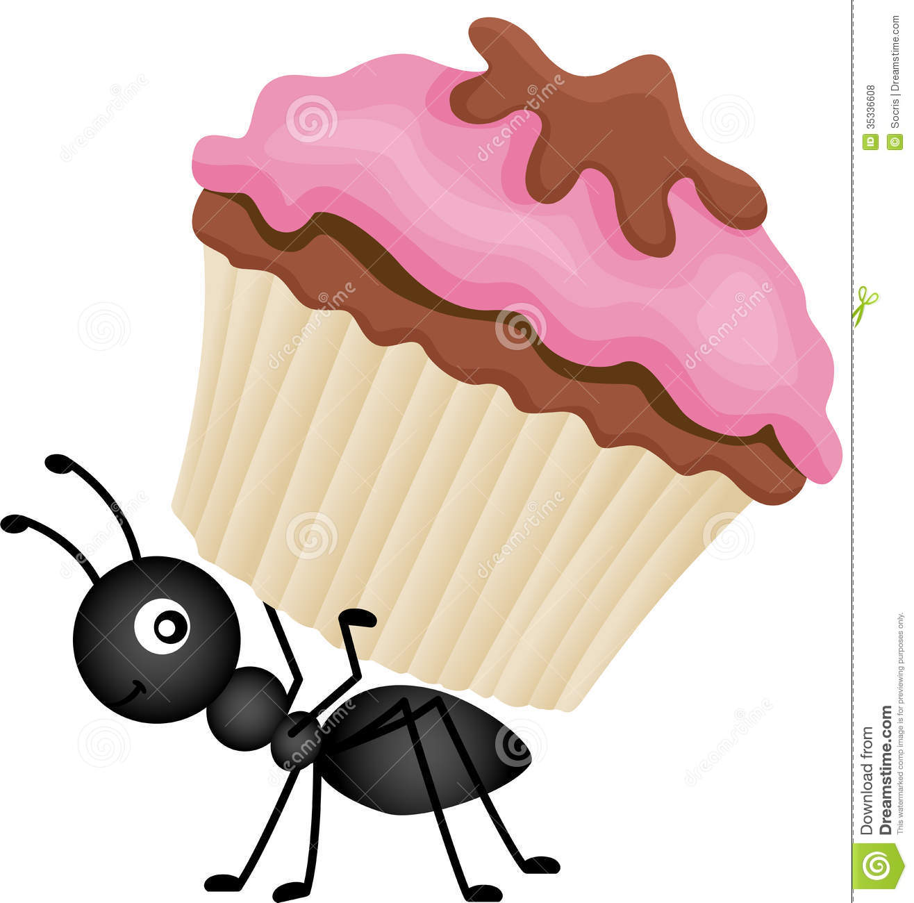 Ant picnic food clipart