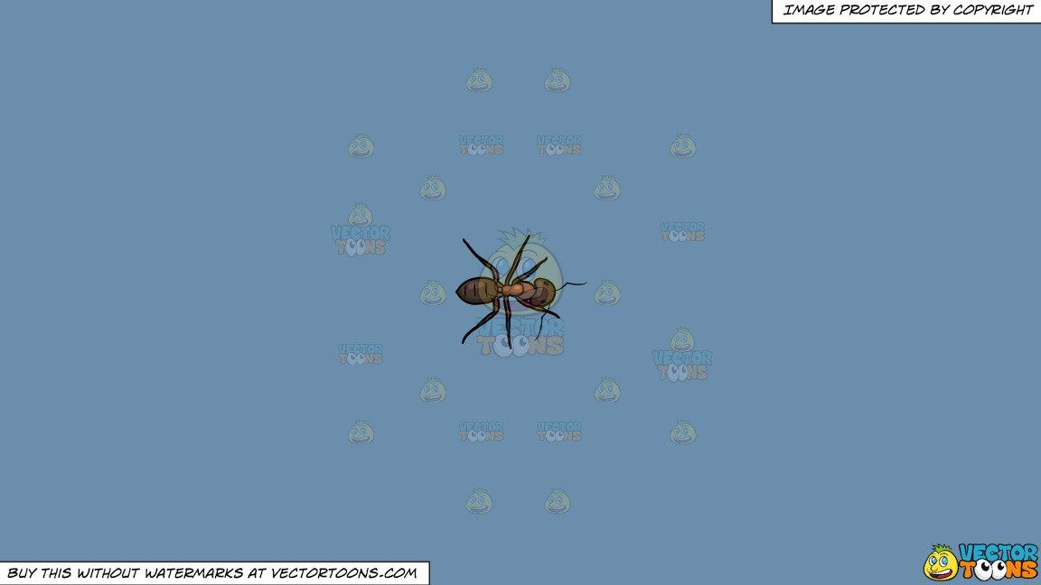 Ant clipart with mandible image royalty free library Clipart: An Exploring Carpenter Ant on a Solid Shadow Blue 6C8Ead ... image royalty free library