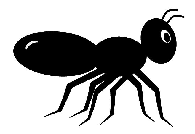 Ant illustration clipart jpg black and white download Black ant clip art, cute style lge 11cm long   Outdoor projects ... jpg black and white download